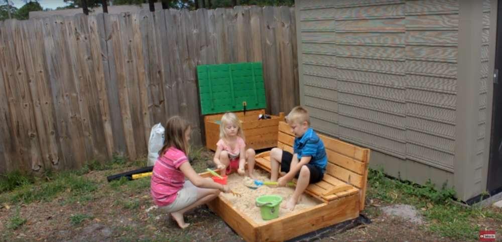 Как сделать песочницу для детей своими руками?