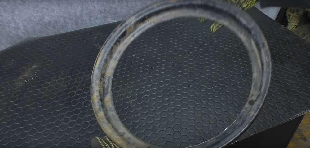 процесс изготовления мангала из автомобильного диска шаг 13