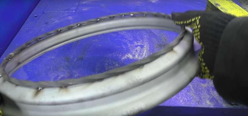 процесс изготовления мангала из автомобильного диска шаг 18