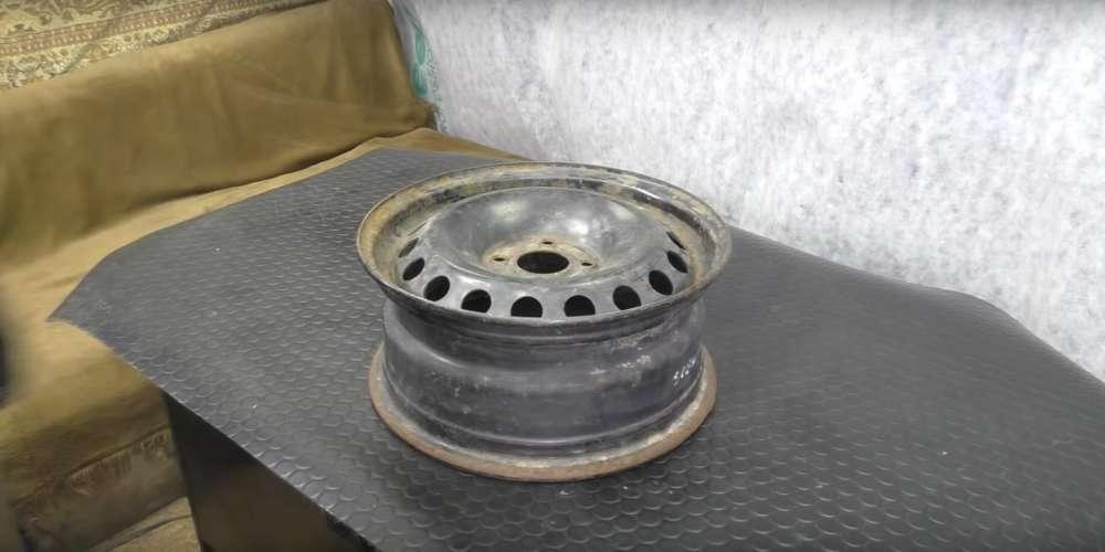 процесс изготовления мангала из автомобильного диска шаг 1