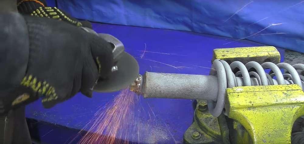 процесс изготовления мангала из автомобильного диска шаг 27