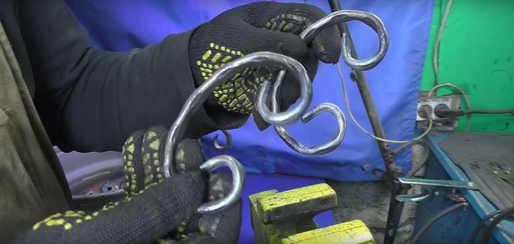 процесс изготовления мангала из автомобильного диска шаг 30