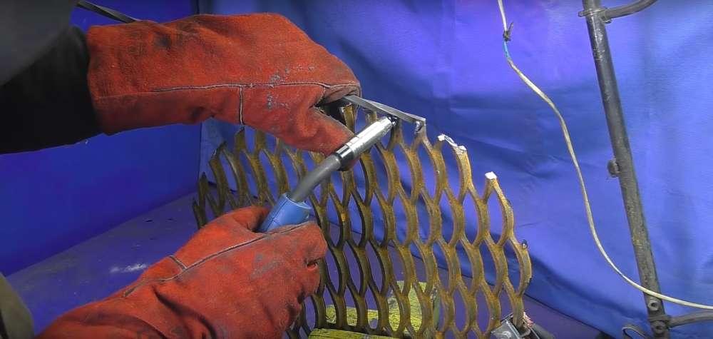 процесс изготовления мангала из автомобильного диска шаг 39