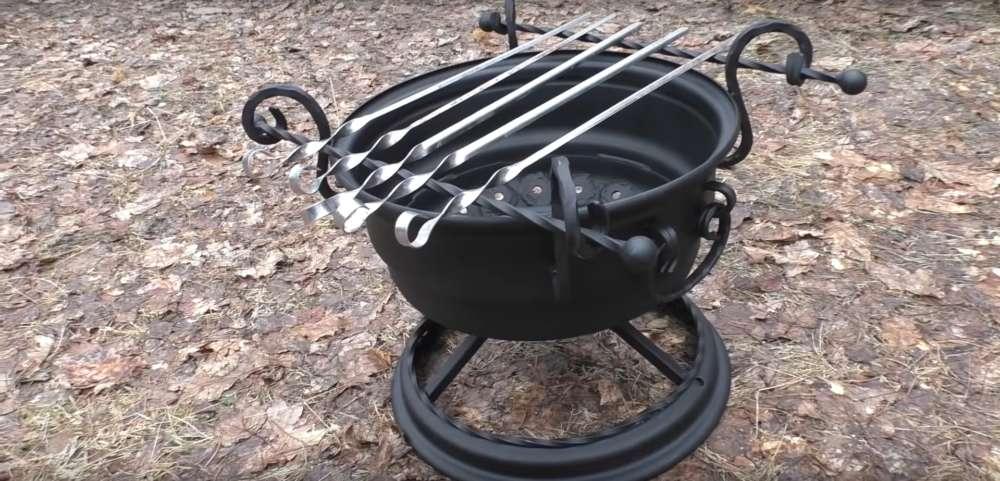 процесс изготовления мангала из автомобильного диска шаг 45