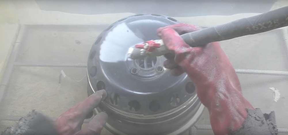 процесс изготовления мангала из автомобильного диска шаг 7