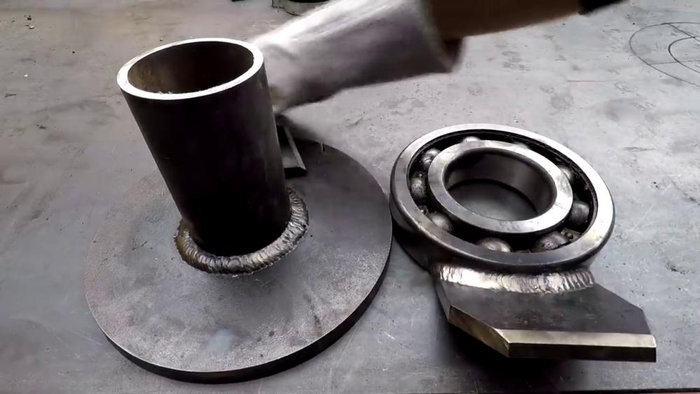 процесс изготовления самодельного станка для гибки металла шаг 10