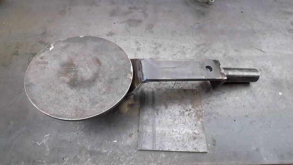 процесс изготовления самодельного станка для гибки металла шаг 15