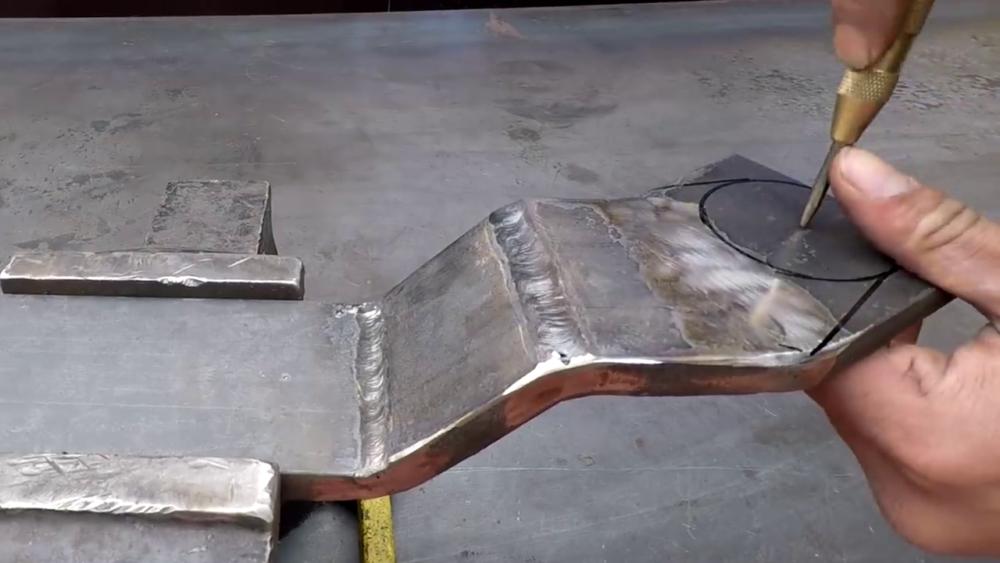 процесс изготовления самодельного станка для гибки металла шаг 20