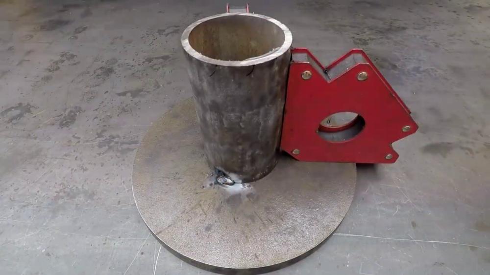 процесс изготовления самодельного станка для гибки металла шаг 2