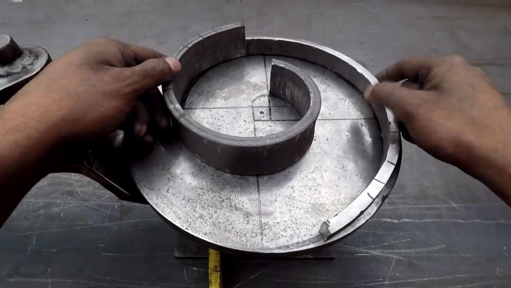 процесс изготовления самодельного станка для гибки металла шаг 32