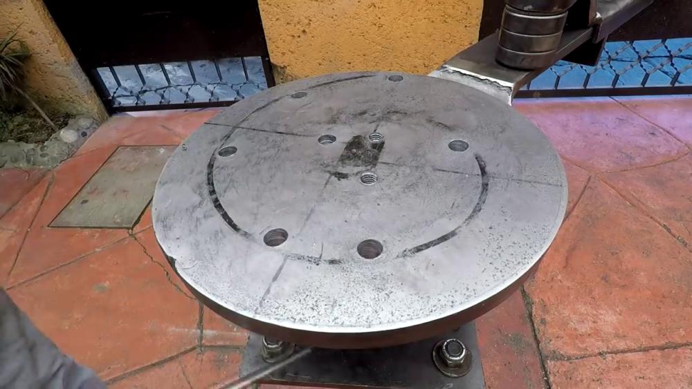 процесс изготовления самодельного станка для гибки металла шаг 43