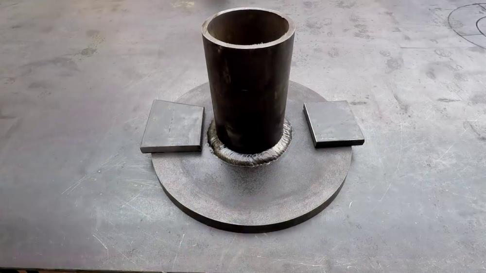 процесс изготовления самодельного станка для гибки металла шаг 7
