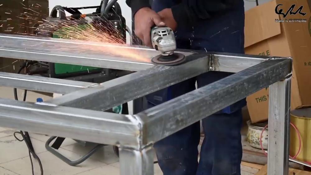 процесс изготовления стол с барбекю шаг 11