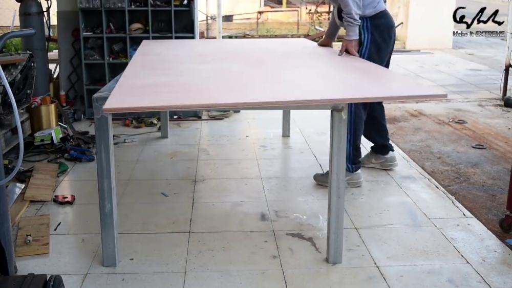 процесс изготовления стол с барбекю шаг 13
