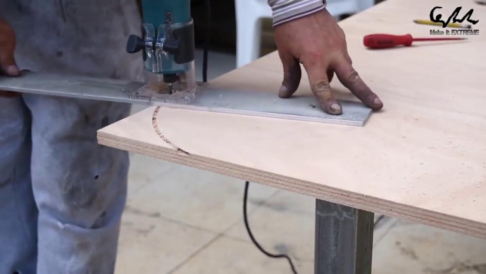 процесс изготовления стол с барбекю шаг 14
