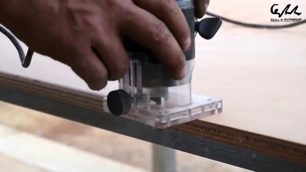 процесс изготовления стол с барбекю шаг 16