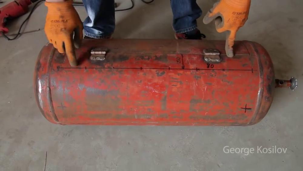 процесс изготовления свин-барбекю из газового баллона шаг 17