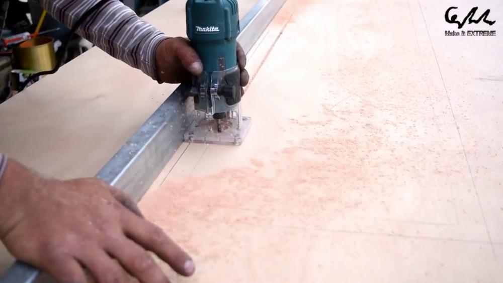 процесс изготовления стол с барбекю шаг 18