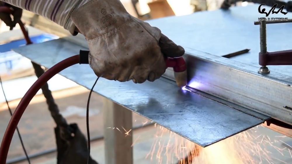 процесс изготовления стол с барбекю шаг 20