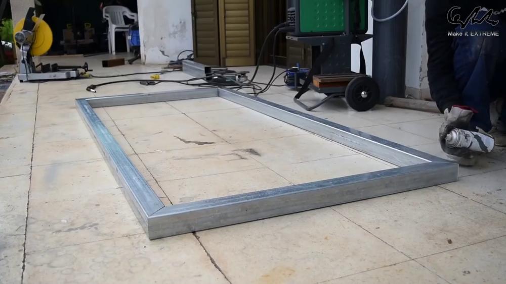 процесс изготовления стол с барбекю шаг 3