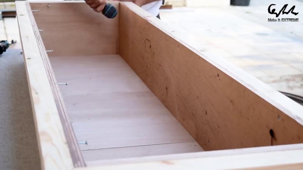 процесс изготовления стол с барбекю шаг 30