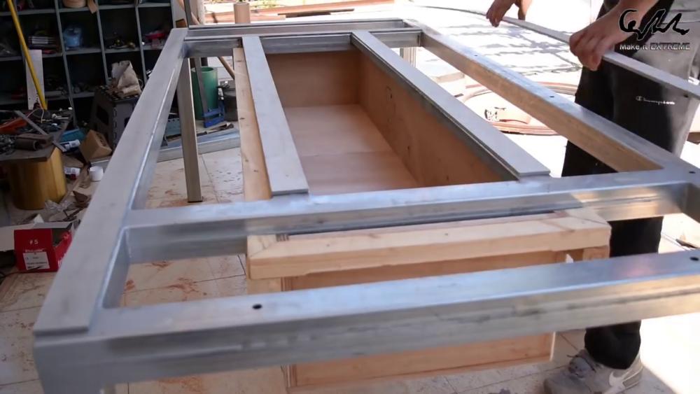 процесс изготовления стол с барбекю шаг 37