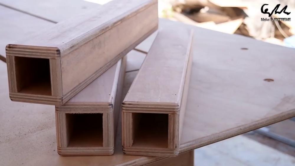 процесс изготовления стол с барбекю шаг 44