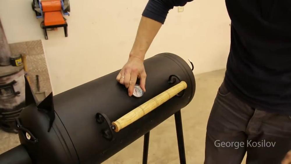процесс изготовления свин-барбекю из газового баллона шаг 48