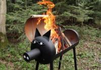 готовый свин-барбекю из старого газового баллона сделанный своими руками