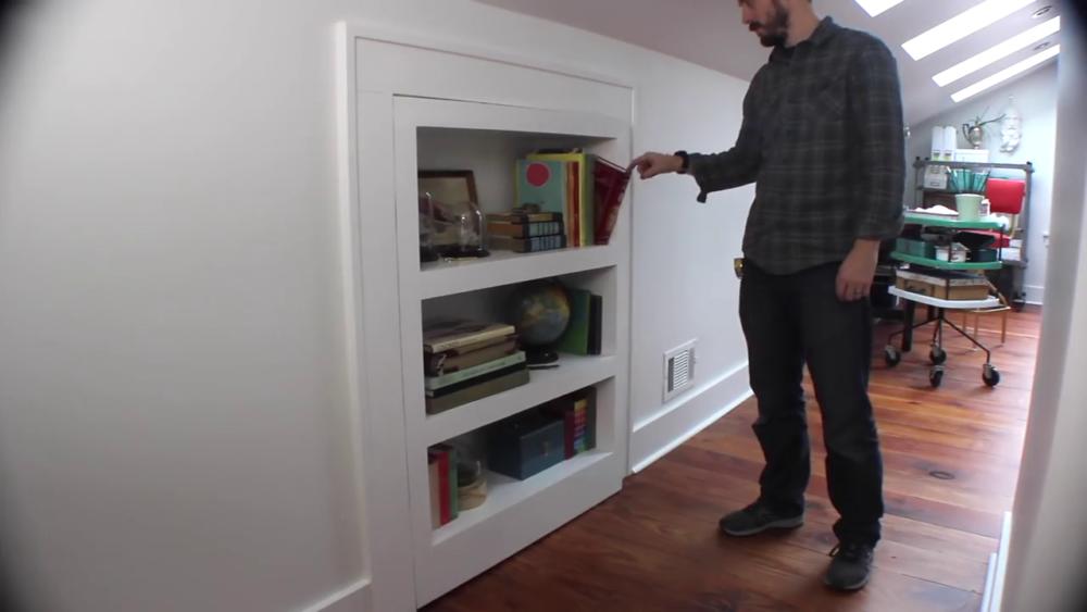 процесс изготовления потайного дверь-шкафа из фанеры шаг 30процесс изготовления потайного дверь-шкафа из фанеры шаг 52