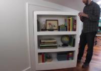 готовая потайная дверь-шкаф из фанеры сделанный своими руками