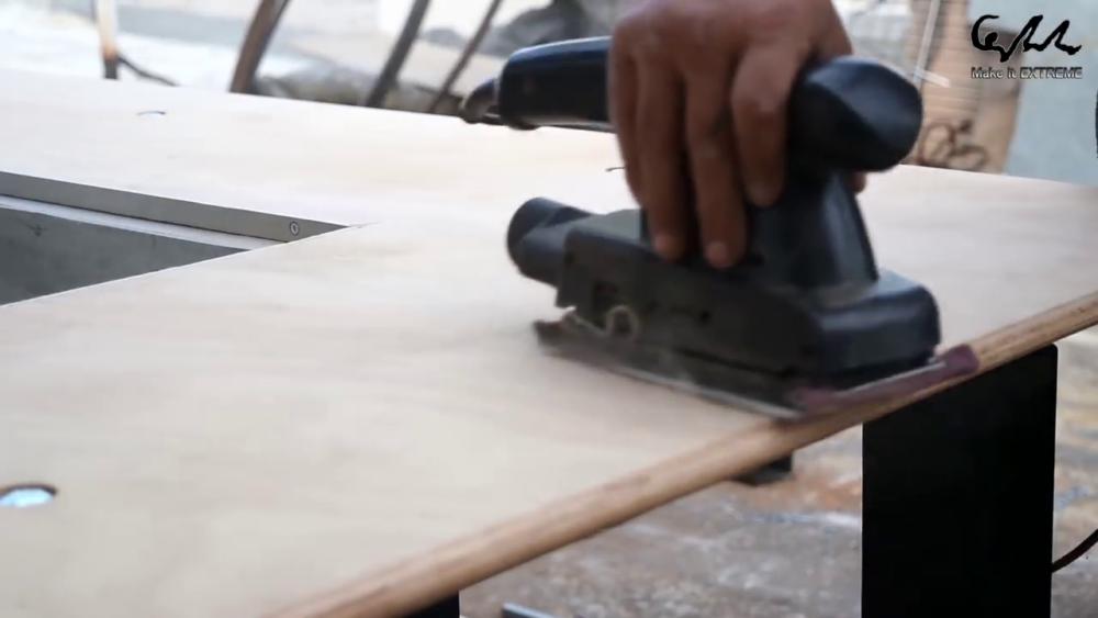 процесс изготовления стол с барбекю шаг 66