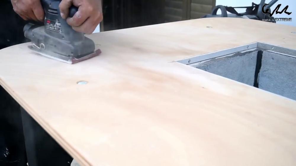 процесс изготовления стол с барбекю шаг 67