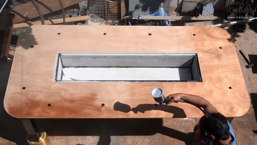 процесс изготовления стол с барбекю шаг 72