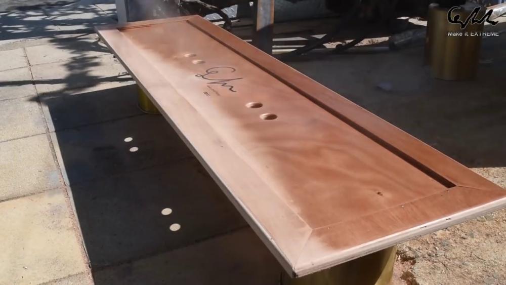 процесс изготовления стол с барбекю шаг 74