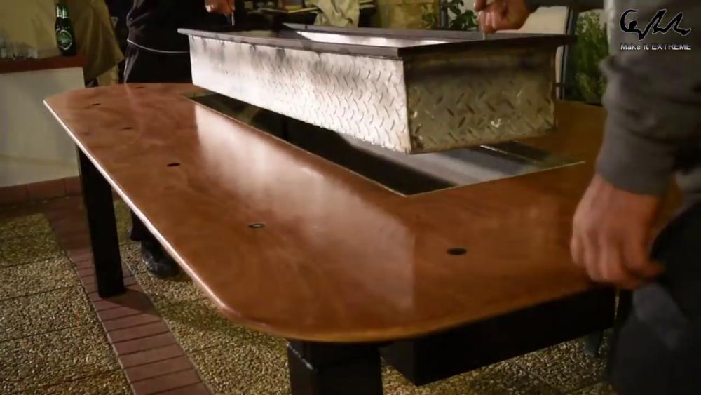 процесс изготовления стол с барбекю шаг 82