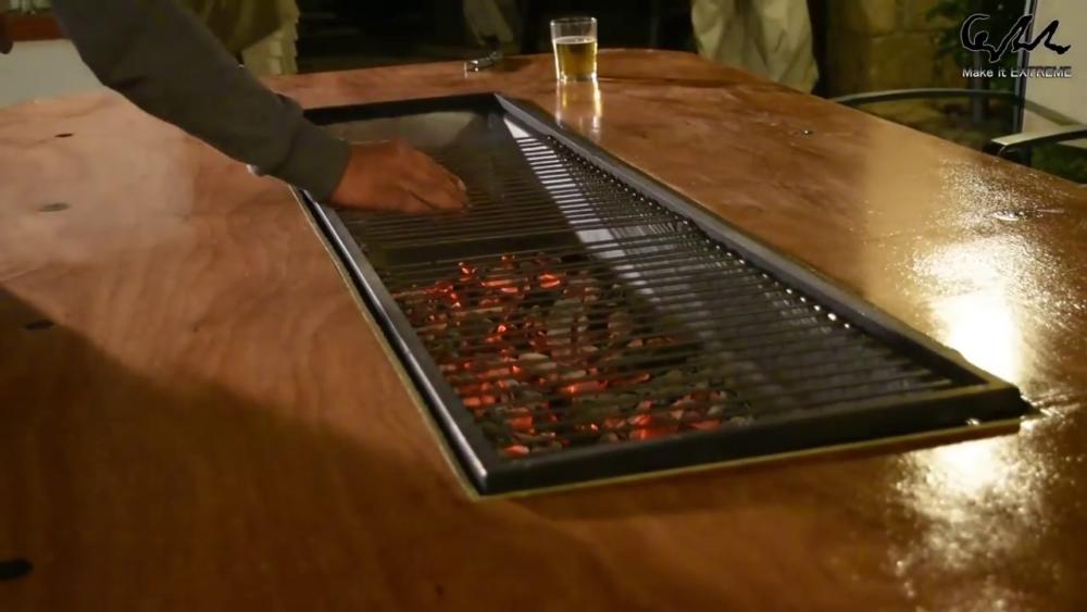 процесс изготовления стол с барбекю шаг 85