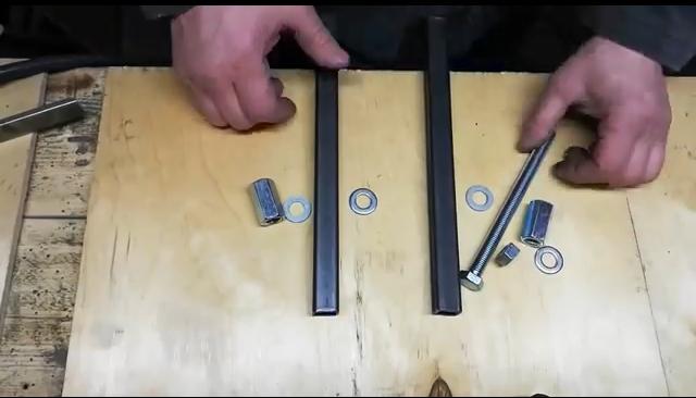 процесс изготовления самодельной стойки для болгарки шаг 10