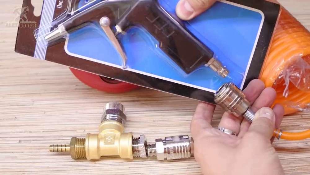 Самодельный компрессор с ресивером из огнетушителя шаг 11