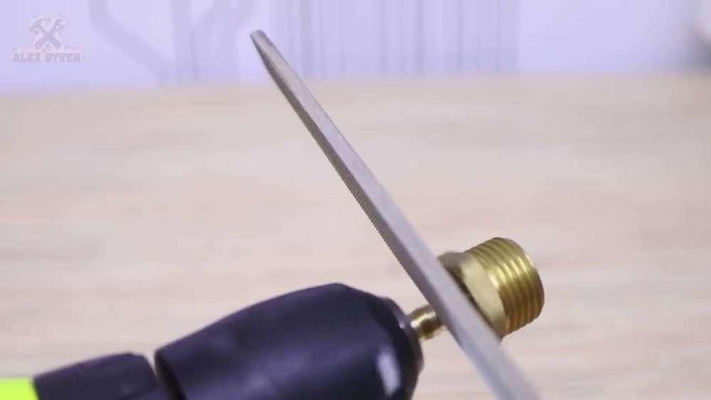 Самодельный компрессор с ресивером из огнетушителя шаг 22
