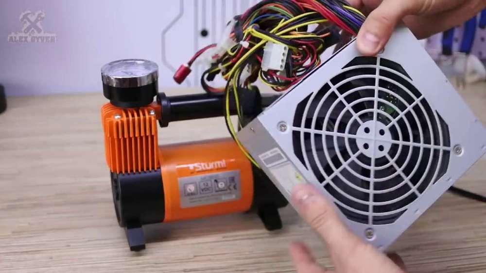 Самодельный компрессор с ресивером из огнетушителя шаг 26