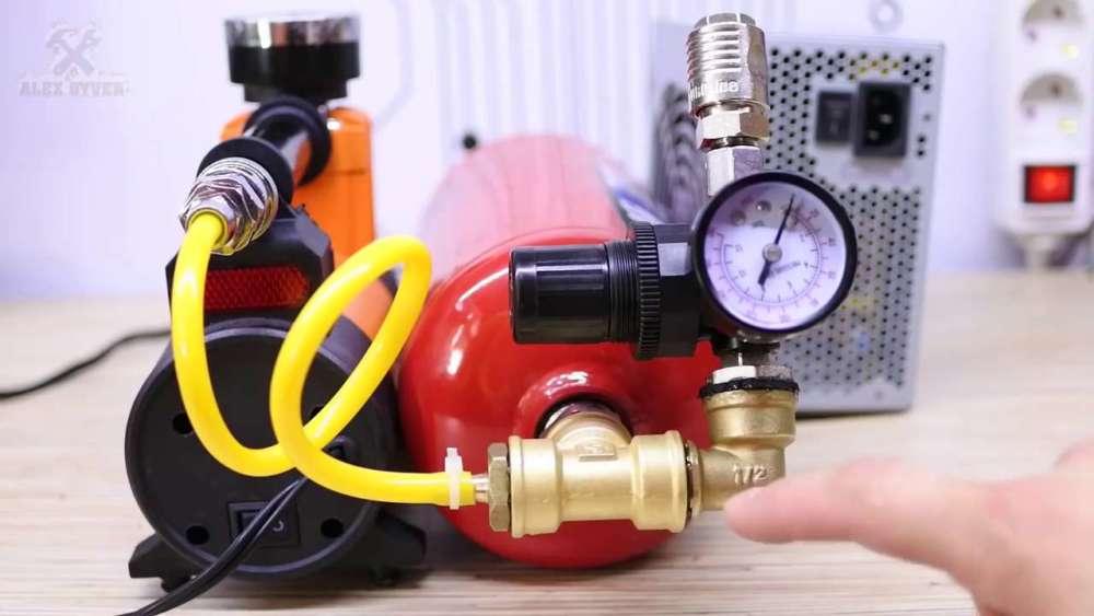 Самодельный компрессор с ресивером из огнетушителя шаг 30