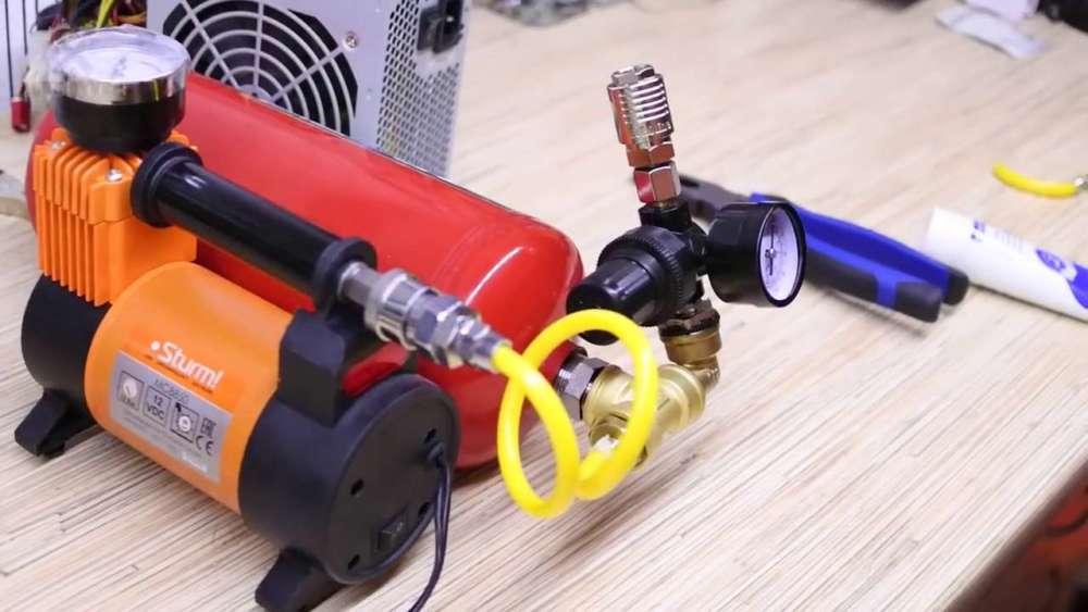 Самодельный компрессор с ресивером из огнетушителя шаг 31