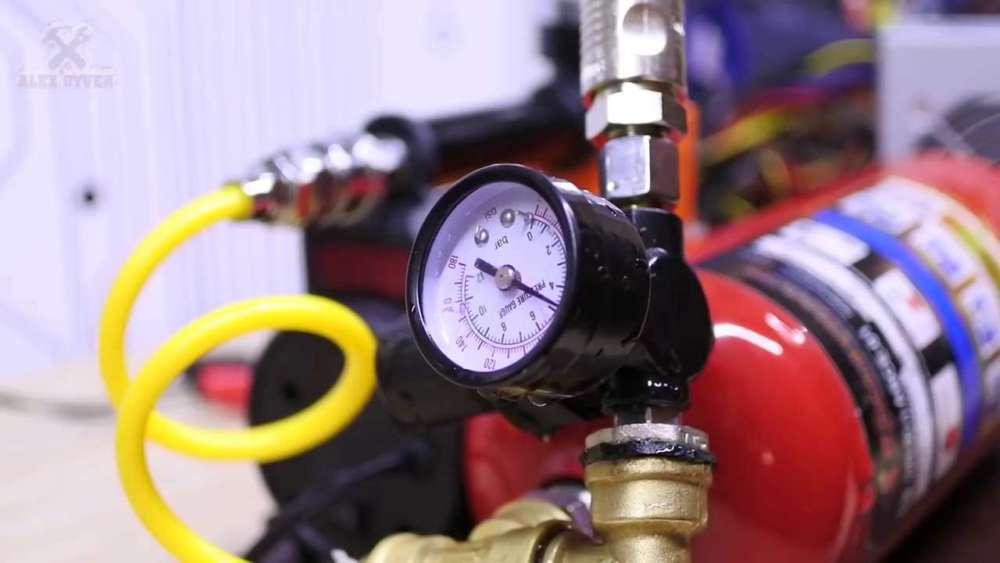 Самодельный компрессор с ресивером из огнетушителя шаг 32