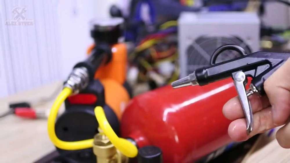 Самодельный компрессор с ресивером из огнетушителя шаг 36