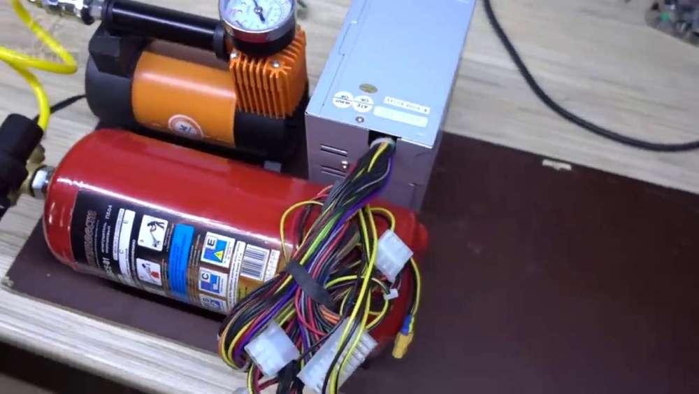 Самодельный компрессор с ресивером из огнетушителя шаг 37