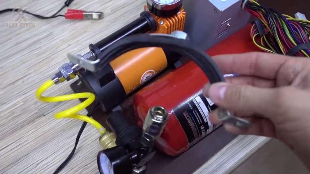 Самодельный компрессор с ресивером из огнетушителя шаг 38