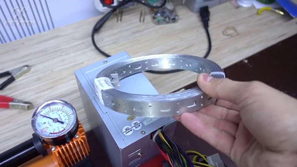 Самодельный компрессор с ресивером из огнетушителя шаг 40