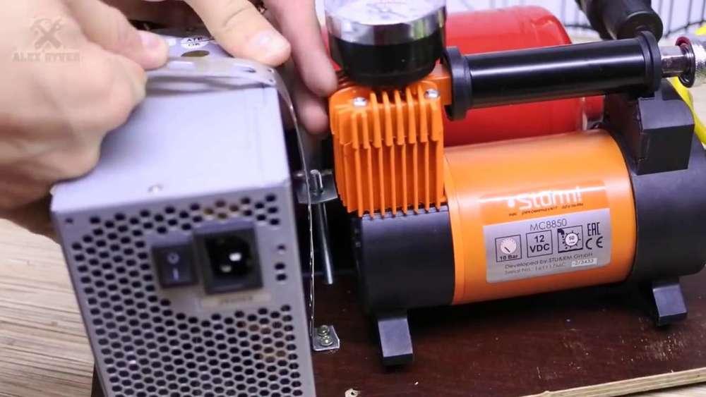 Самодельный компрессор с ресивером из огнетушителя шаг 44
