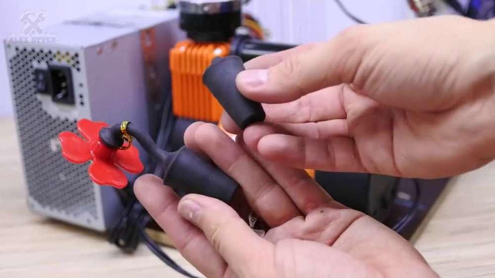 Самодельный компрессор с ресивером из огнетушителя шаг 49